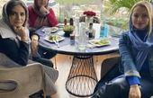 لیندا کیانی و دوستانش در رستورانی شیک + عکس