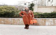 سپیده خداوردی در حیاط خانه اش + عکس