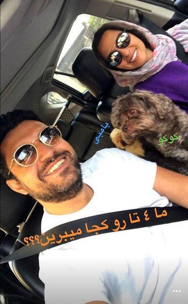 تعدد حیوان خانگی اشکان خطیبی و همسرش!+عکس