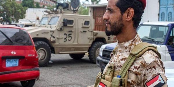 تظاهرات طرفداران شبه نظامیان تحت حمایت امارات علیه نیروهای سعودی