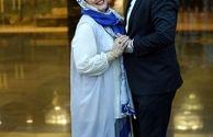 عکس عاشقانه و پراحساس بهاره رهنما و همسرش