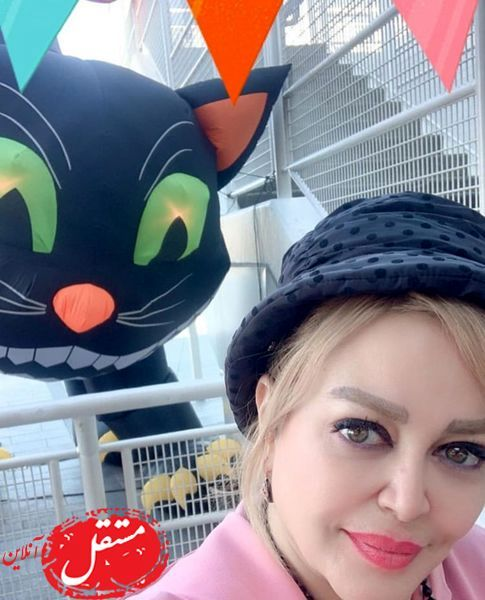 عکس بهاره رهنما با گربه غول پیکر