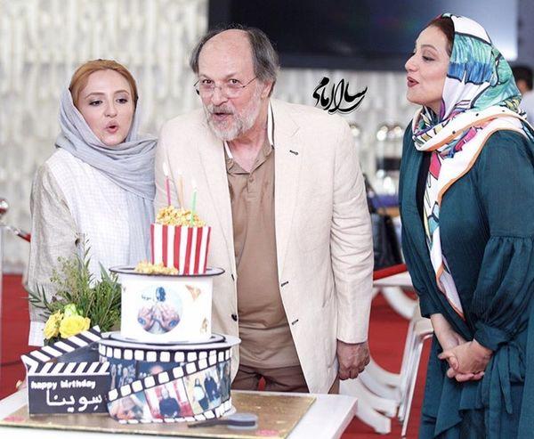 گلاره عباسی و شبنممقدمی در تولد آقای بازیگر + عکس