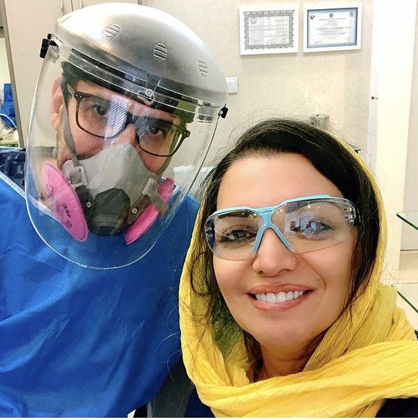 الهامپاوه نژاد در مطب دندانپزشکی + عکی