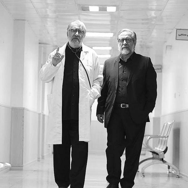 قدم زدن بازیگر مرضیه با آقای دکتر در بیمارستان+عکس
