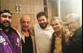 حمید لولایی در جمع بازیگران طنز پیشکسوت+عکس