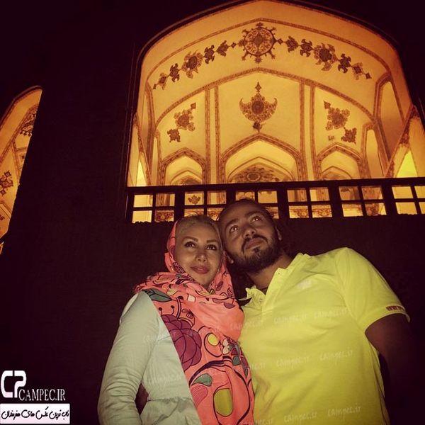 بازیگر قهوه تلخ و همسرش در خانه های دیدنی کاشان+عکس