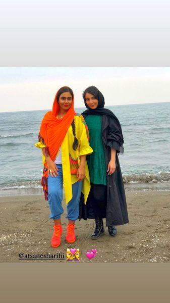 سمیرا حسن پور و دوستش لب دریا + عکس