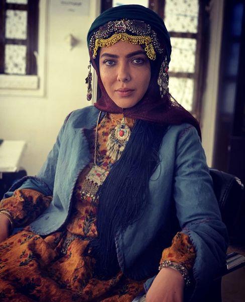 لیلا اوتادی در لباس قشقایی + عکس