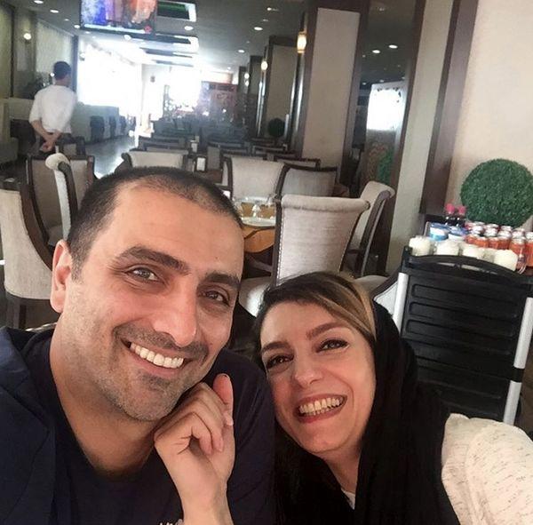 امین زندگانی و همسرش در هتل + عکس