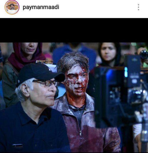توضیحات پیمان معادی درباره صحنه های فیلم بمب