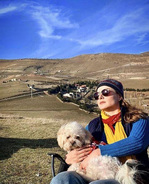 سولماز غنی با سگش + عکس