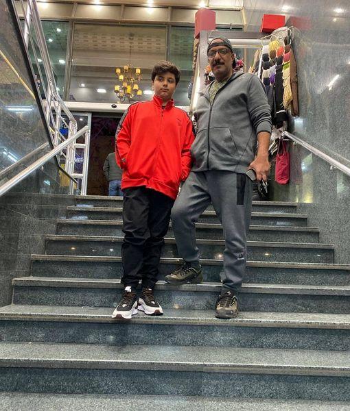 عکس پدر و پسری آقای بازیگر
