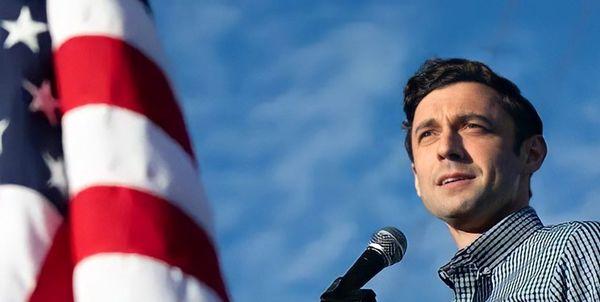 نامزد دوم دموکراتها در انتخابات سنای «جورجیا» اعلام پیروزی کرد
