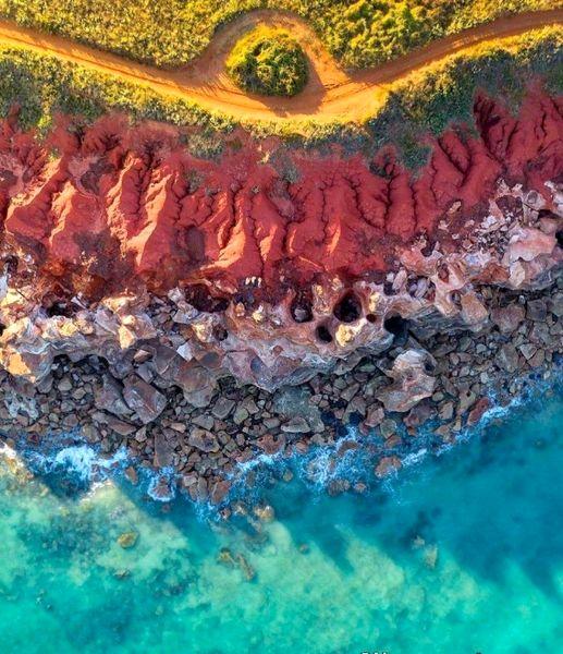 ساحل رنگی در استرالیا +عکس