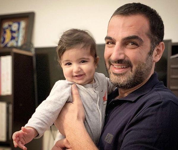 کوروش سلیمانی و پسر کوچکش + عکس