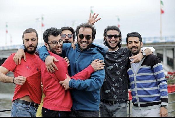 سجاد افشاریان در جمع دوستان شادش + عکس