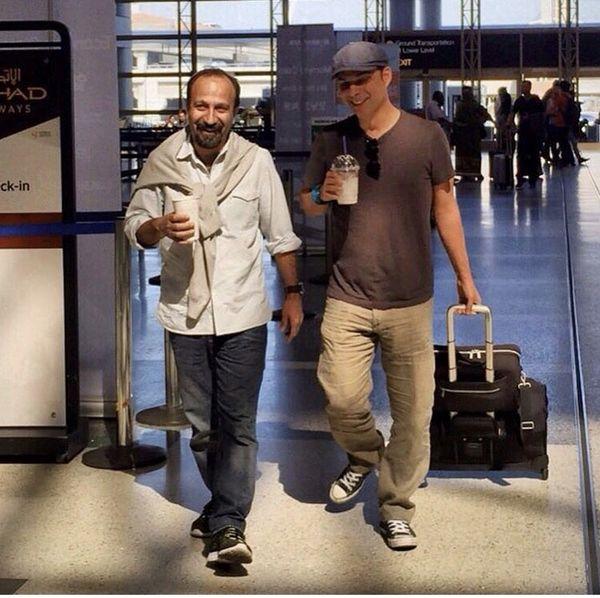 پیمان معادی و اصغر فرهادی در فرودگاه های خارج از کشور + عکس