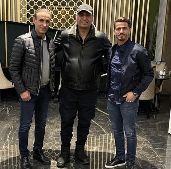 حمید فرخ نژاد در بین فوتبالیستها + عکس