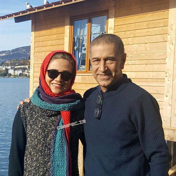 فلورا سام و همسرش در کلبه لب دریا+عکس
