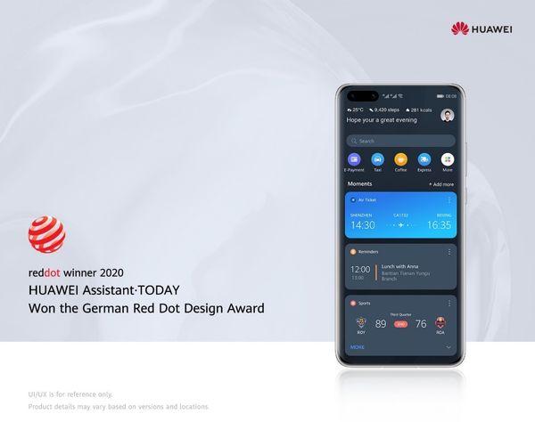 هوآوی جایزه Red Dot Awards را برای دستیار نرمافزاری Huawei Assistant-Today دریافت کرد