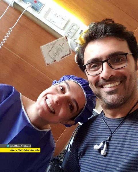 الیکا عبدالرزاقی و همسرش در بیمارستان+عکس