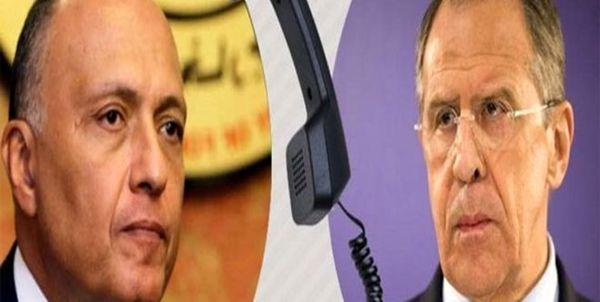 تاکید وزرای خارجه مصر و روسیه بر لزوم حفظ تمامیت ارضی سوریه