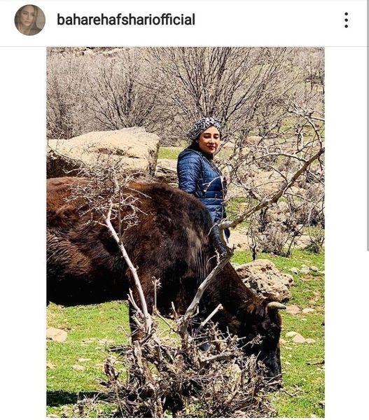 طبیعت گردی بهاره افشاری + عکس