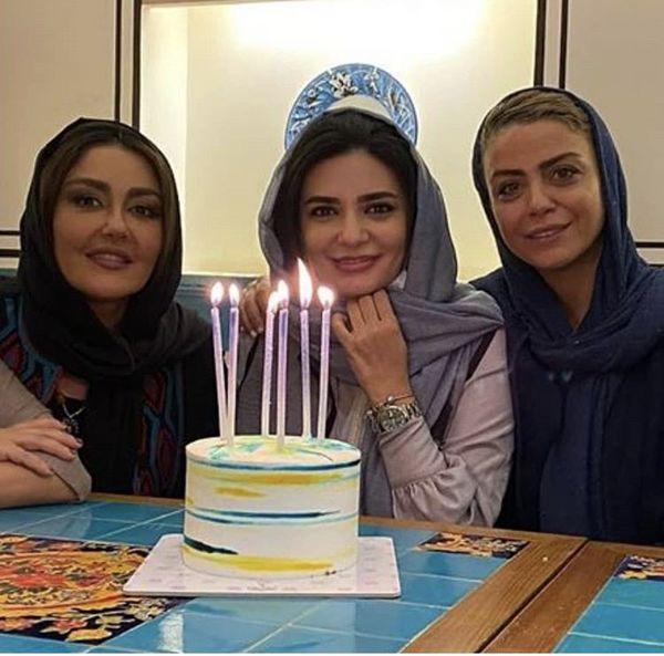 تولد لیندا کیانی با دوستانش + عکس