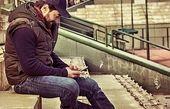 استایل متفاوت بهرام رادان در استادیوم + عکس