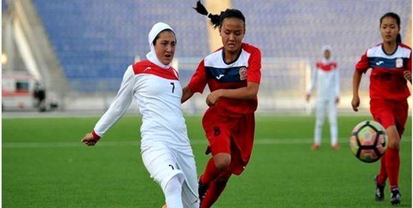 شادی دلچسب تیمملی فوتبال زنان پساز صعود به مرحله نهایی فوتبال آسیا + فیلم