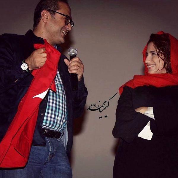 ست قرمز رامبد جوان و همسرش+عکس