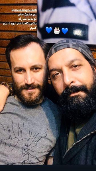 سلفی کامران تفتی با دوستش + عکس