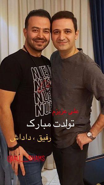 تبریک سعید شیخ زاده به مناسبت تولد دوستش + عکس
