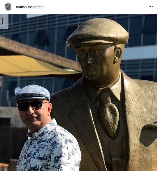 مجسمه آقای مجری هم پیدا شد!+عکس