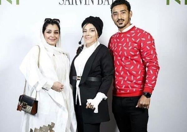 ساره بیات در کنار خانواده فوتبالیست مشهورش+عکس