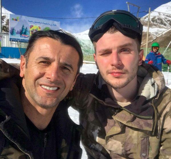 عکس امین حیایی و پسر خوشتیپش در اسکی