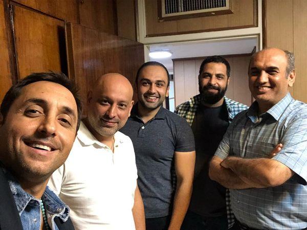 امیرحسین رستمی و دوستان هنرمندش+عکس