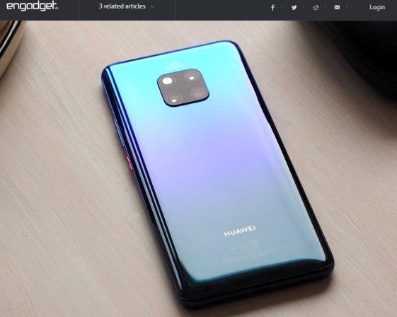 Huawei mate 20 pro همچنان در صدر اخبار رسانه های معتبر جهان