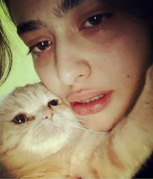 عزاداری ریحانه پارسا برای حیوان خانگی اش+عکس