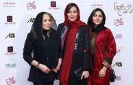 تیپ سه خانم بازیگر در اکران رقص روی شیشه /عکس