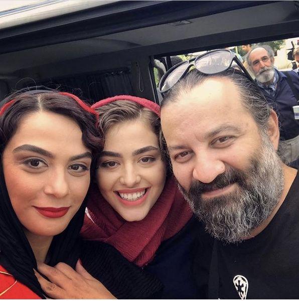 سلفی مهراب قاسمخانی با خانمهای بازیگر مشهور + عکس