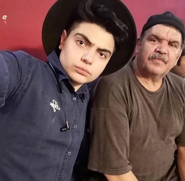 سلفی کیانوش گرامی و پسرش + عکس