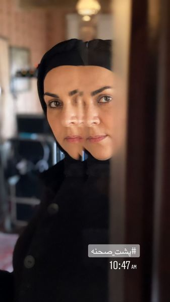 شیوا ابراهیمی در پشت صحنه + عکس