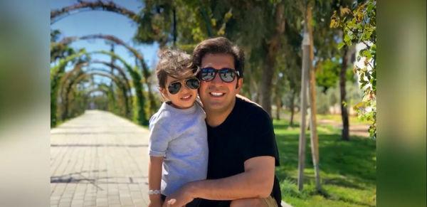 وحید شیخ زاده و پسرش + عکس