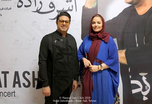 حضور خانم بازیگر در کنسرت حجت اشرف زاده+عکس