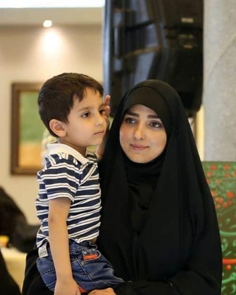دلنوشته خانم مجری برای پسرش