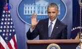لحظه خداحافظی اوباما از کاخ سفید +تصاویر