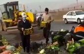 کمک مردم تبریز به یک راننده کامیون+ فیلم