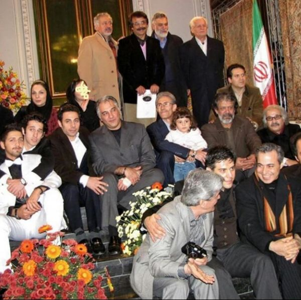 پسر مرحوم نوذری در جمع هنرمندان+عکس
